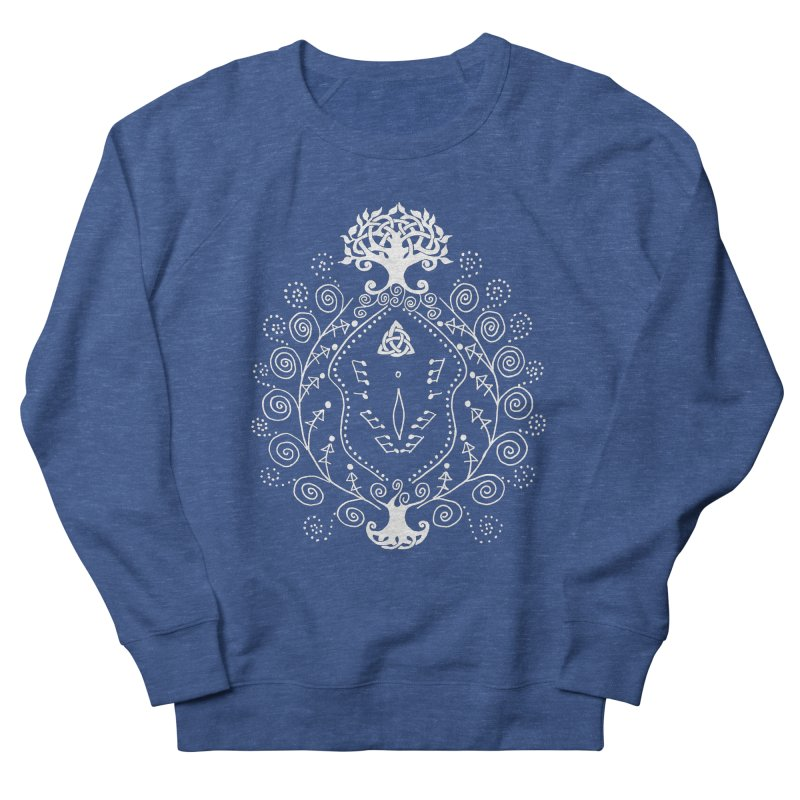 Celtic Clit (white) Men's French Terry Sweatshirt by Vino & Vulvas Artist Shop