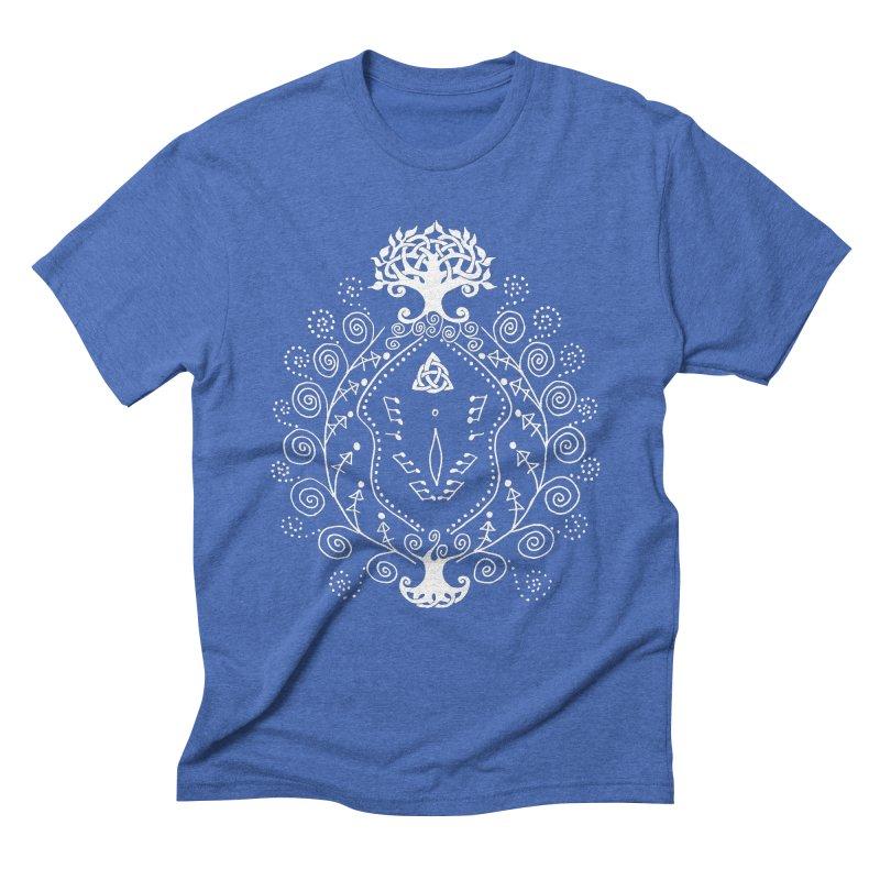 Celtic Clit (white) Men's Triblend T-Shirt by Vino & Vulvas Artist Shop