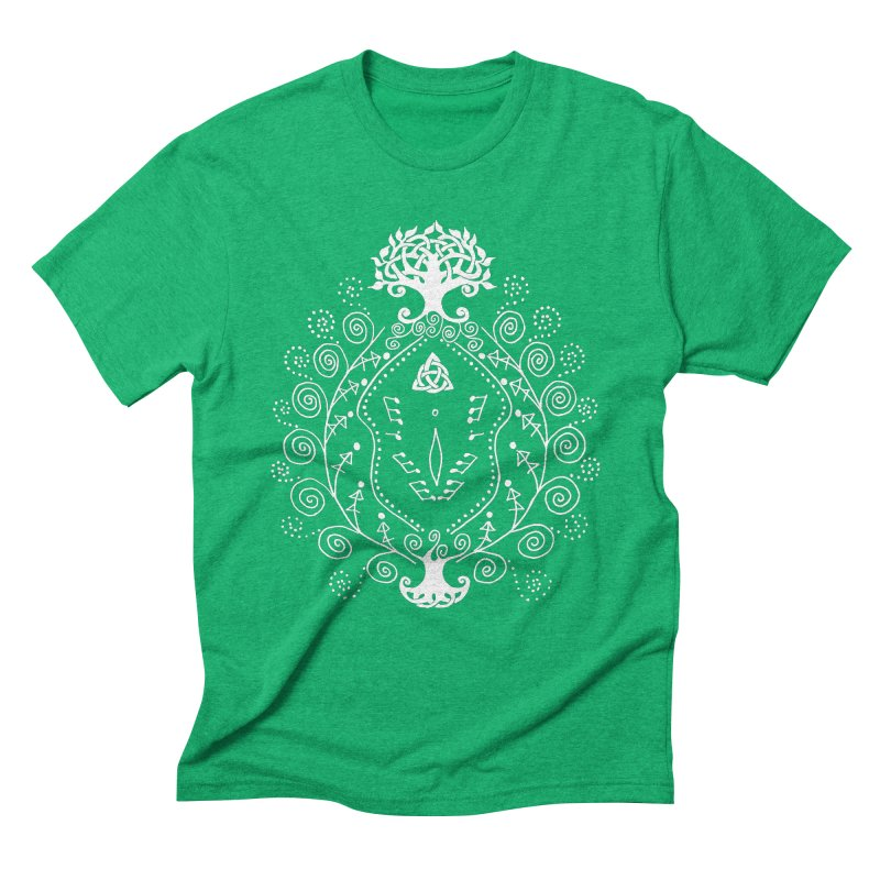 Celtic Clit (white) Men's Triblend T-Shirt by Vino & Vulvas Artist Shop