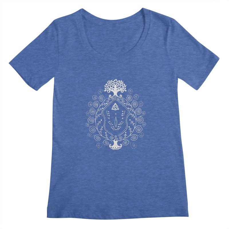 Celtic Clit (white) Women's Regular Scoop Neck by Vino & Vulvas Artist Shop