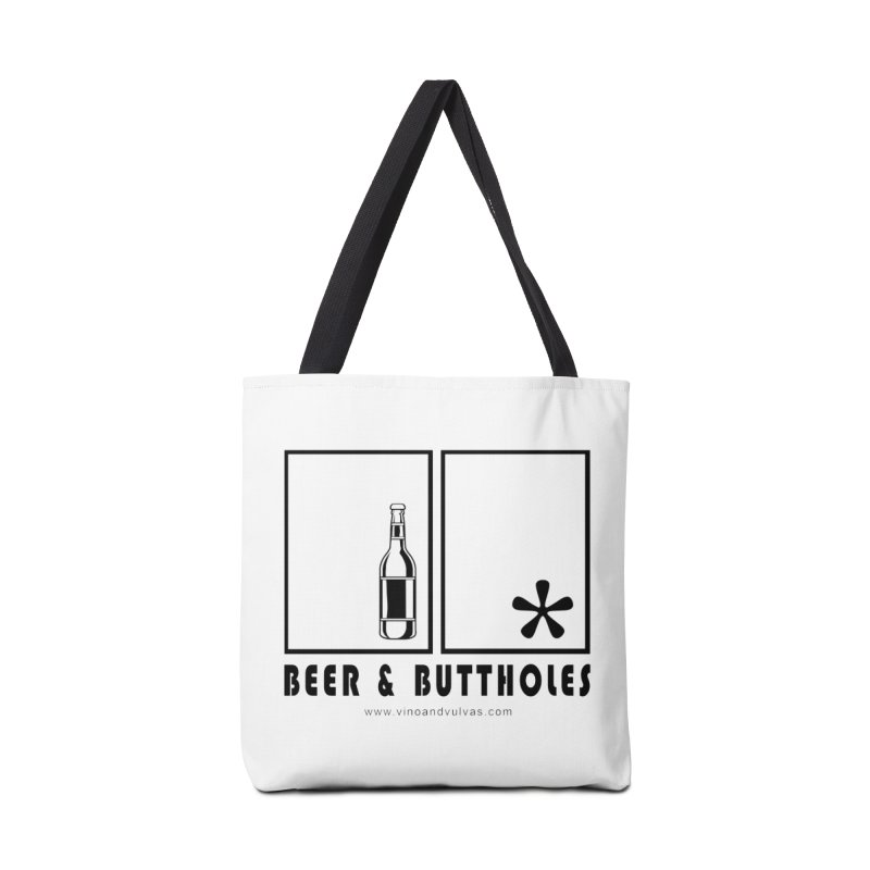 Beer & Buttholes Accessories Tote Bag Bag by Vino & Vulvas Artist Shop