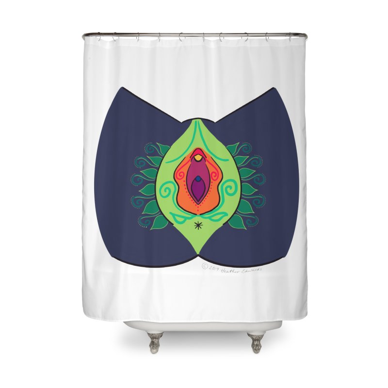 Avulvacado Home Shower Curtain by Vino & Vulvas Artist Shop