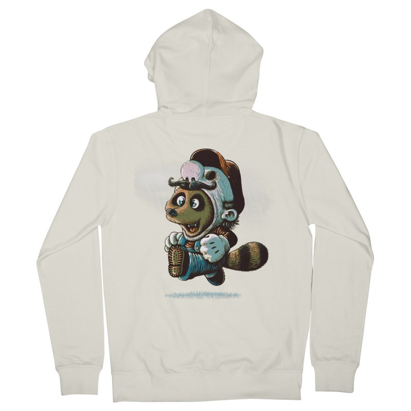 tanooki revenge Men's Zip-Up Hoody by vinssevintz's Artist Shop