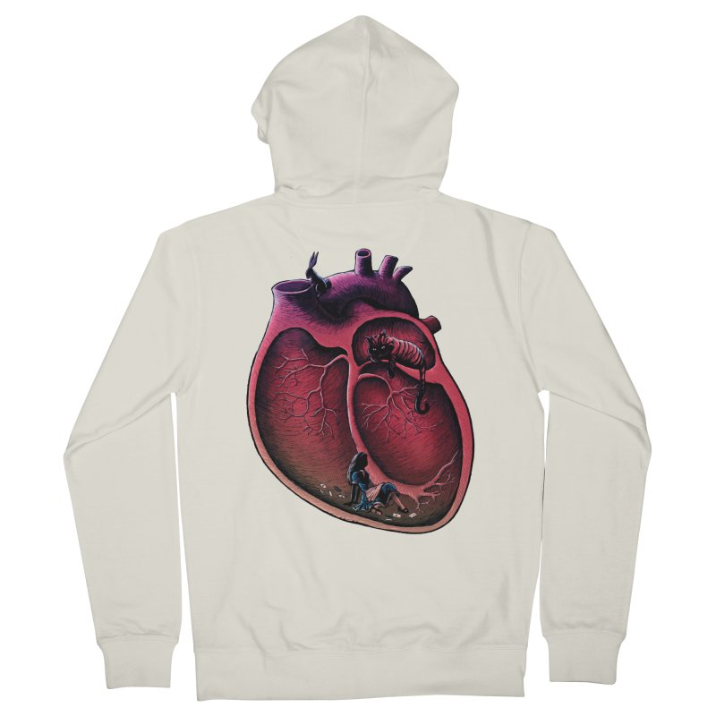 Alice in my heart Men's Zip-Up Hoody by vinssevintz's Artist Shop