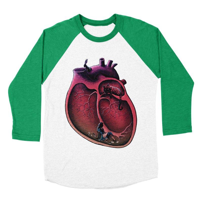 Alice in my heart Men's Baseball Triblend T-Shirt by vinssevintz's Artist Shop