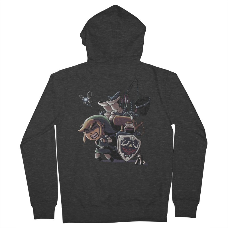 hard adventure Men's Zip-Up Hoody by vinssevintz's Artist Shop
