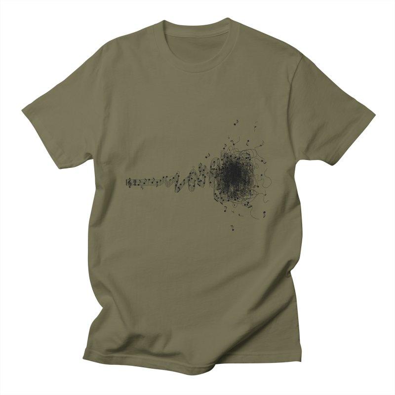 crazy musik Men's T-shirt by vinssevintz's Artist Shop