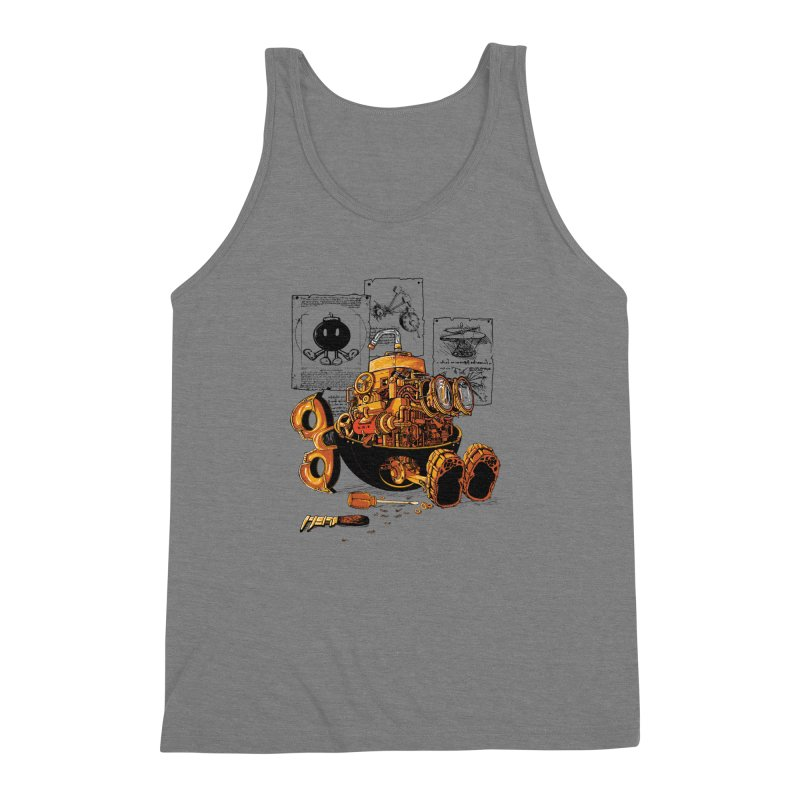 work of the genius Men's Triblend Tank by vinssevintz's Artist Shop