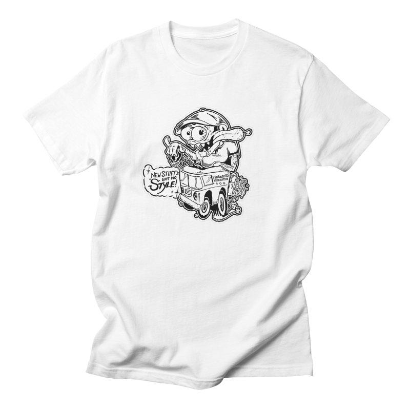 Weirdo Black & White Men's T-Shirt by Vintage 55 Restorations
