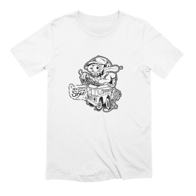 Weirdo Black & White Men's T-Shirt by Vintage 55 Restorations