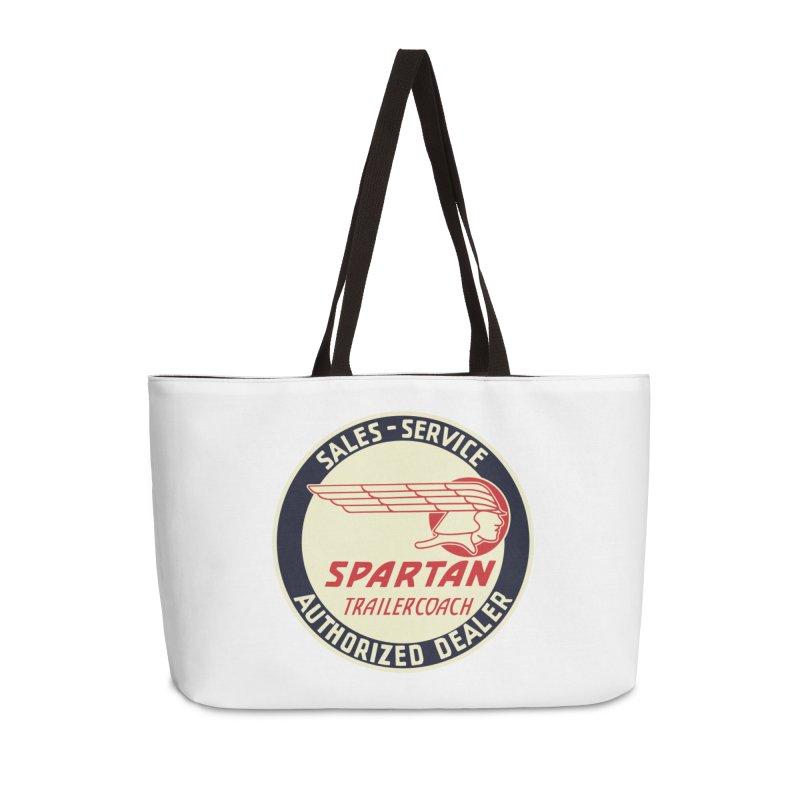Spartan Vintage Trailer Logo Accessories Bag by Vintage 55 Restorations