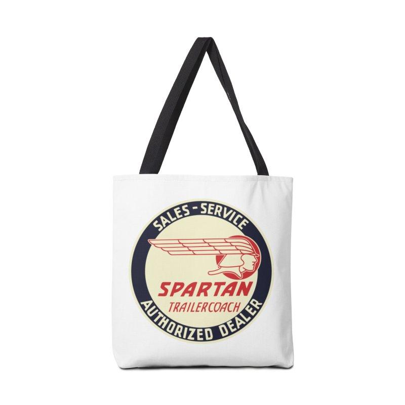 Spartan Vintage Trailer Logo Accessories Tote Bag Bag by Vintage 55 Restorations
