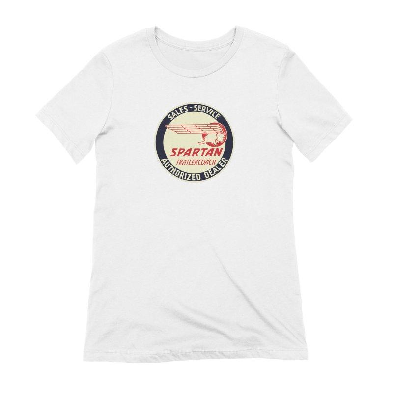 Spartan Vintage Trailer Logo Women's Extra Soft T-Shirt by Vintage 55 Restorations