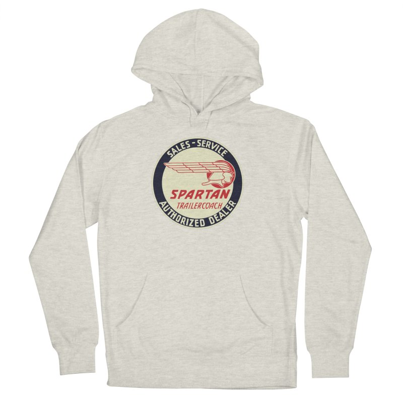 Spartan Vintage Trailer Logo Women's French Terry Pullover Hoody by Vintage 55 Restorations