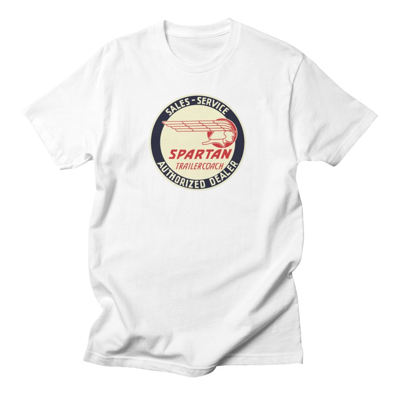 Spartan Vintage Trailer Logo Men's T-Shirt by Vintage 55 Restorations