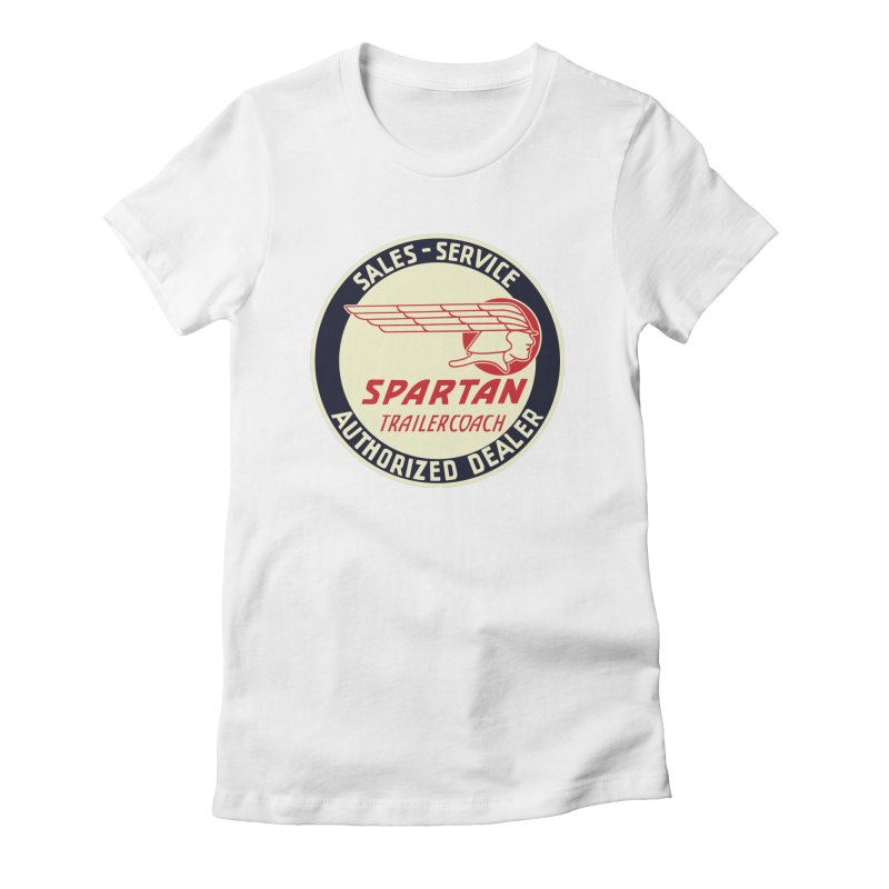 Spartan Vintage Trailer Logo Women's T-Shirt by Vintage 55 Restorations