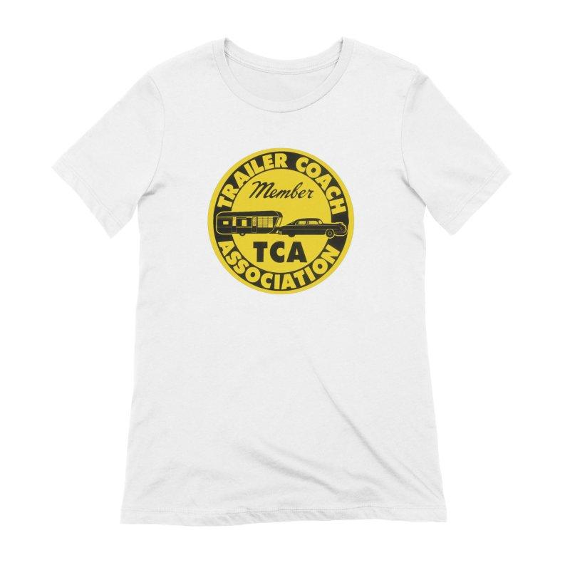 Vintage Trailer Coach Association Women's T-Shirt by Vintage 55 Restorations