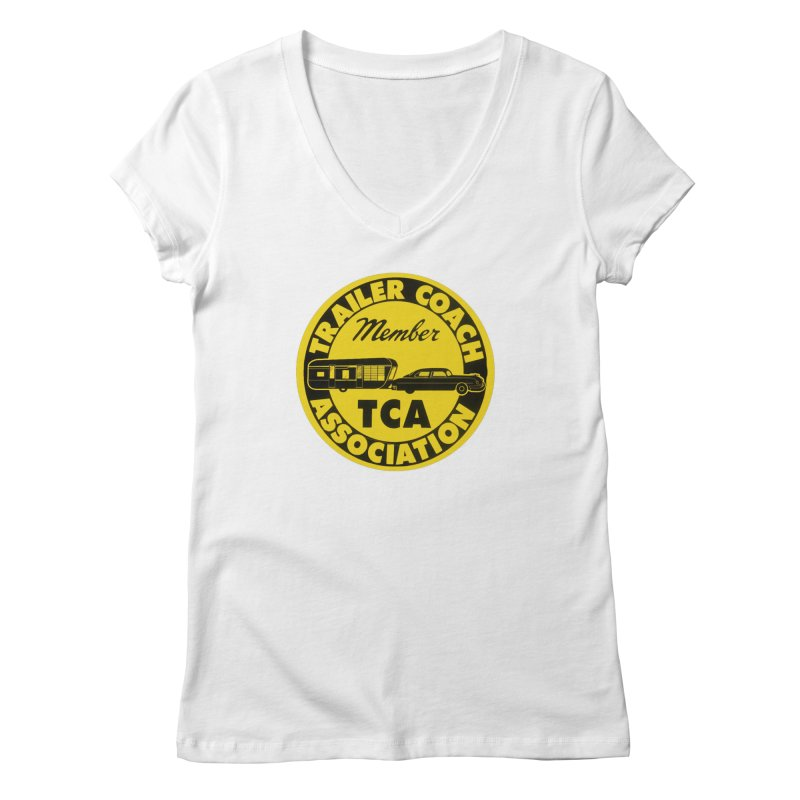 Vintage Trailer Coach Association Women's V-Neck by Vintage 55 Restorations