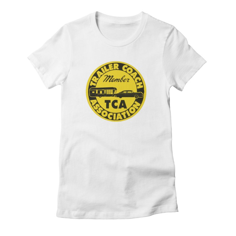Vintage Trailer Coach Association Women's Fitted T-Shirt by Vintage 55 Restorations