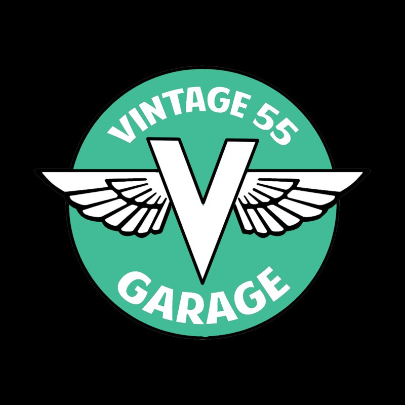 Vintage 55 Garage Logo Women's V-Neck by Vintage 55 Restorations
