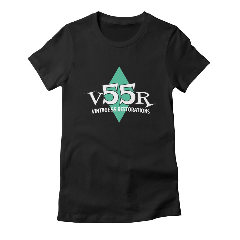 Vintage 55 Restorations Diamond Logo Women's Fitted T-Shirt by Vintage 55 Restorations