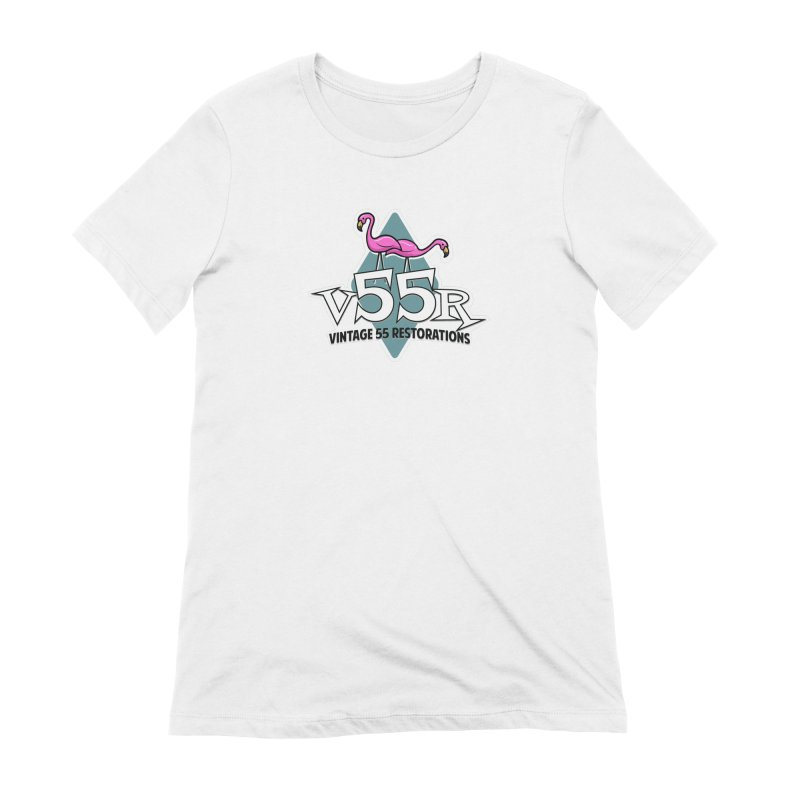 Flamingos Women's T-Shirt by Vintage 55 Restorations