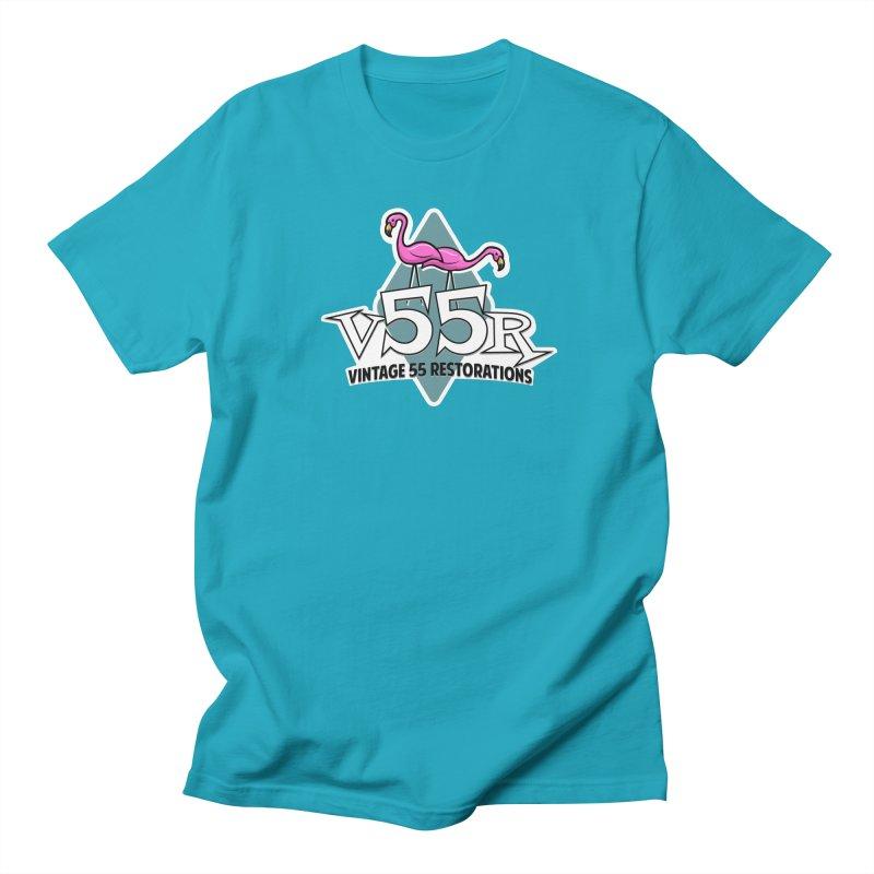 Flamingos Men's T-Shirt by Vintage 55 Restorations