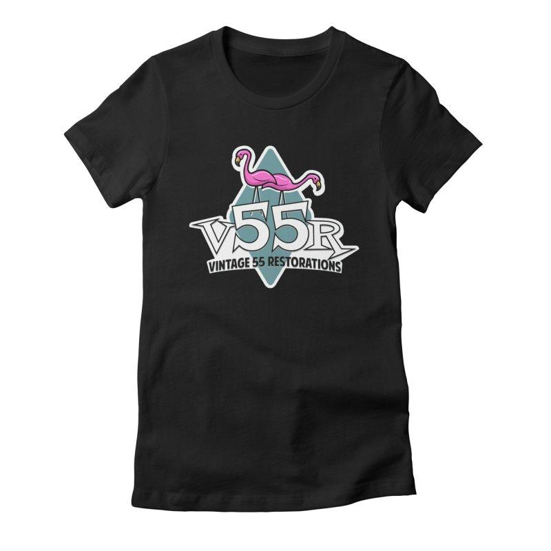 Flamingos Women's T-Shirt by Vintage 55 Restorations