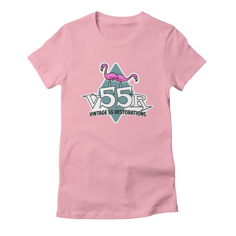 Flamingos Women's Fitted T-Shirt by Vintage 55 Restorations