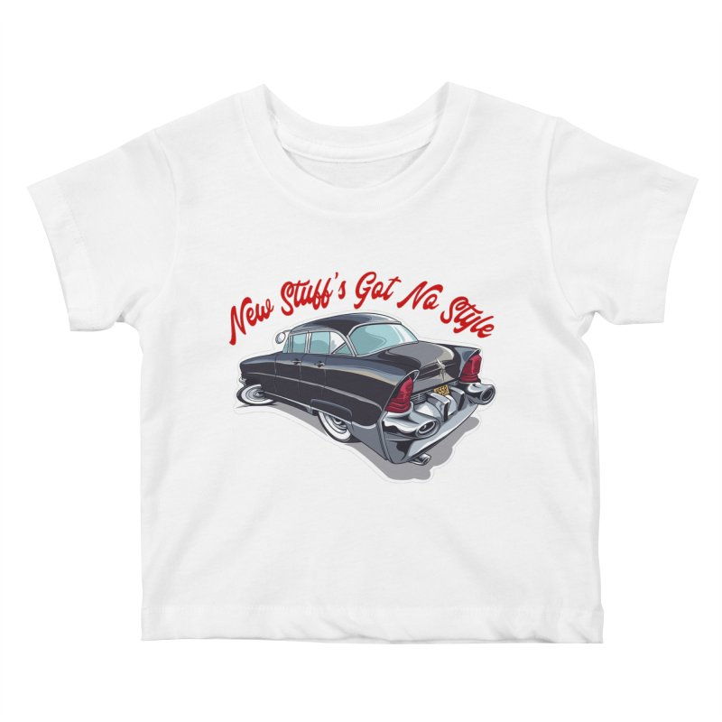 Land Yacht Lincoln Kids Baby T-Shirt by Vintage 55 Restorations