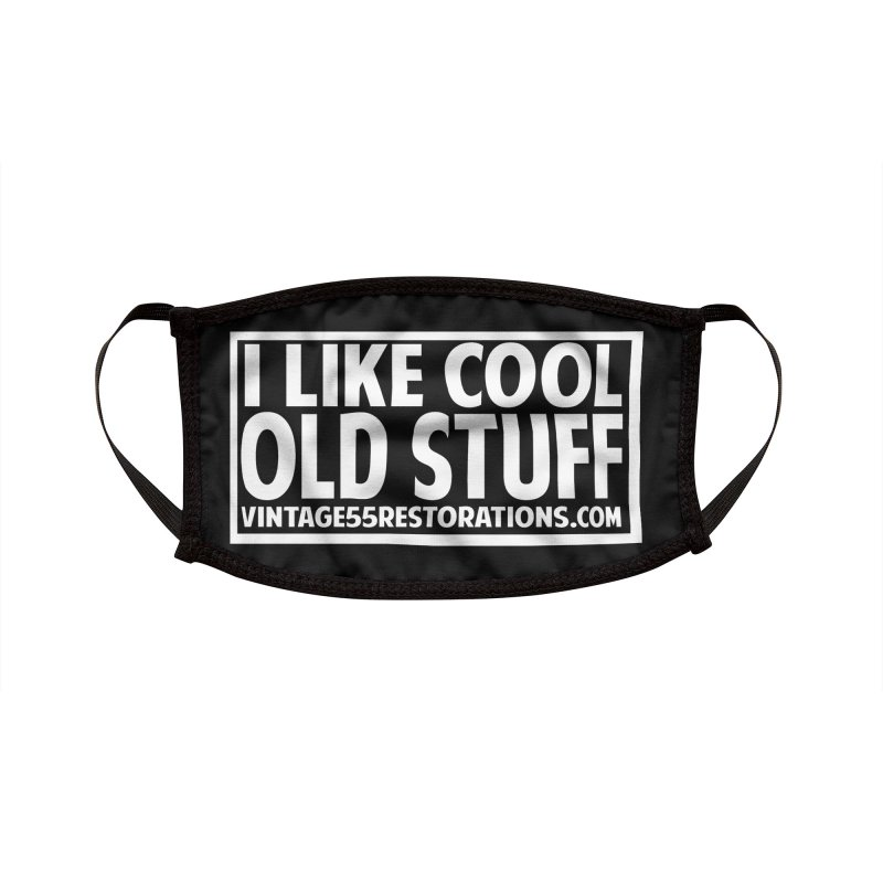 I Like Cool Old Stuff Accessories Face Mask by Vintage 55 Restorations