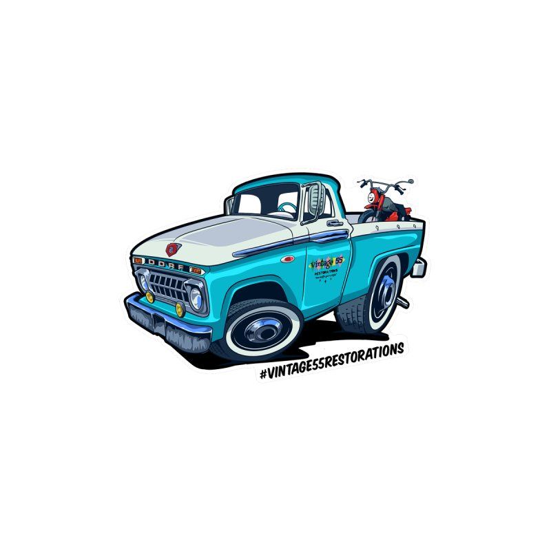 V55R Shop Truck Kids T-Shirt by Vintage 55 Restorations