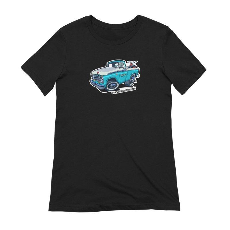 V55R Shop Truck Women's Extra Soft T-Shirt by Vintage 55 Restorations
