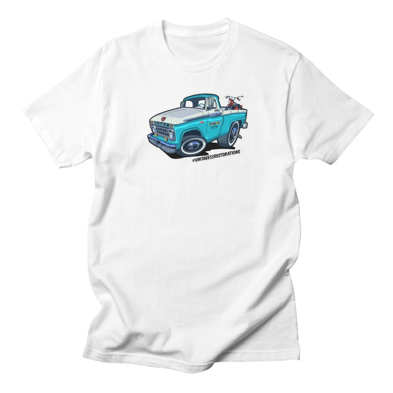 V55R Shop Truck Men's T-Shirt by Vintage 55 Restorations