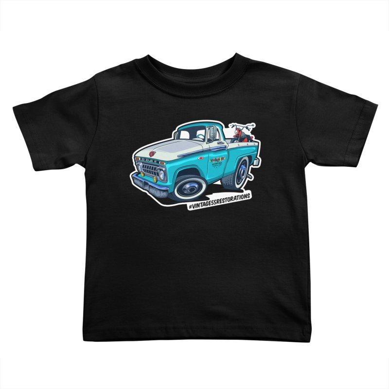 V55R Shop Truck Kids Toddler T-Shirt by Vintage 55 Restorations