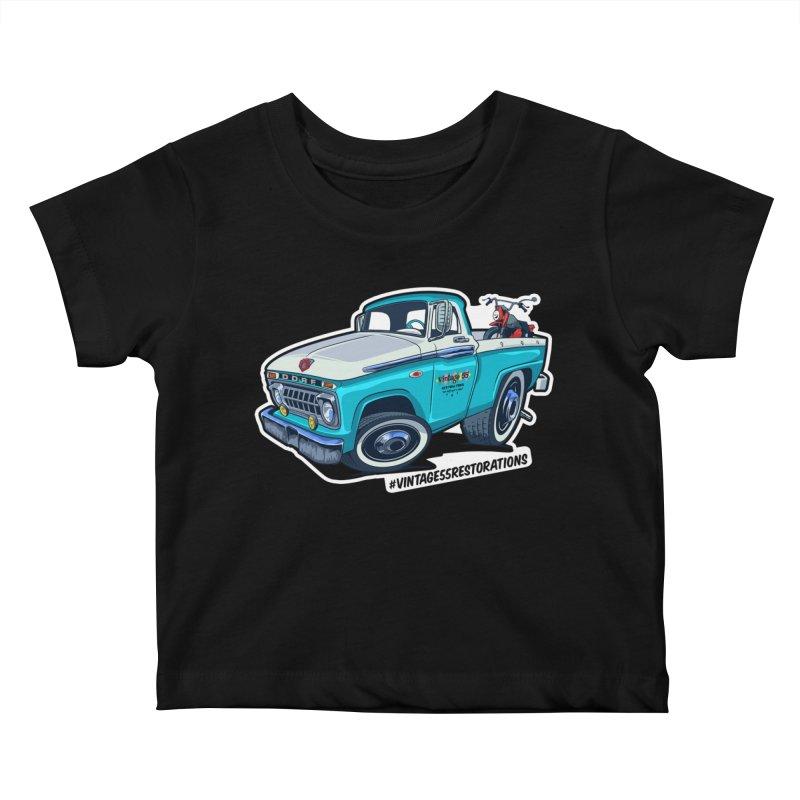 V55R Shop Truck Kids Baby T-Shirt by Vintage 55 Restorations