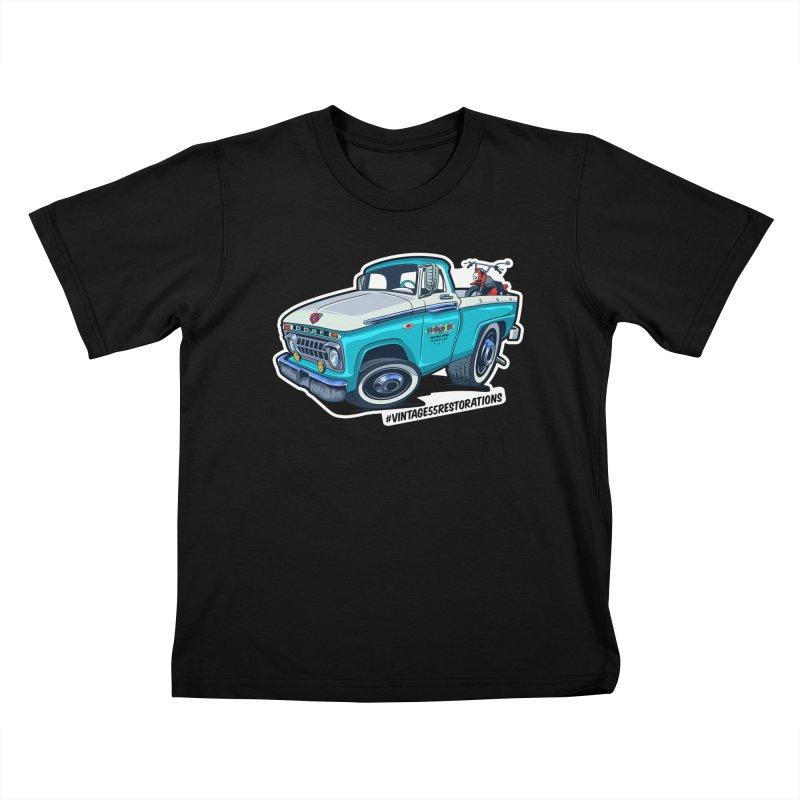V55R Shop Truck Kids T-Shirt by Vintage 55 Restorations