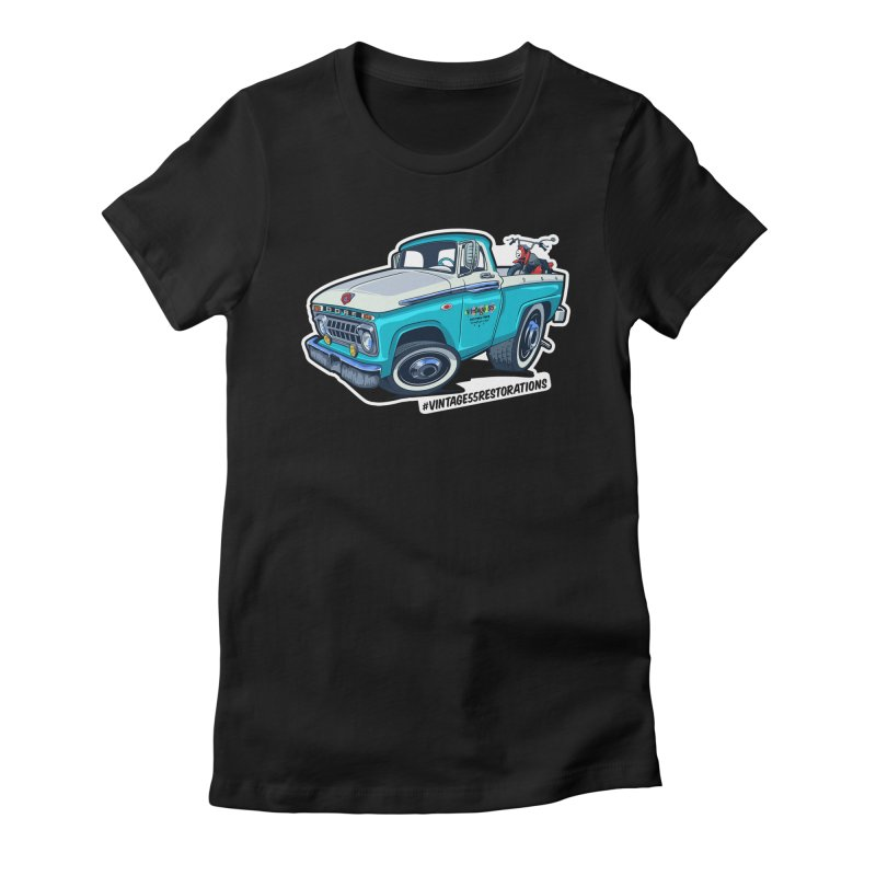 V55R Shop Truck Women's T-Shirt by Vintage 55 Restorations