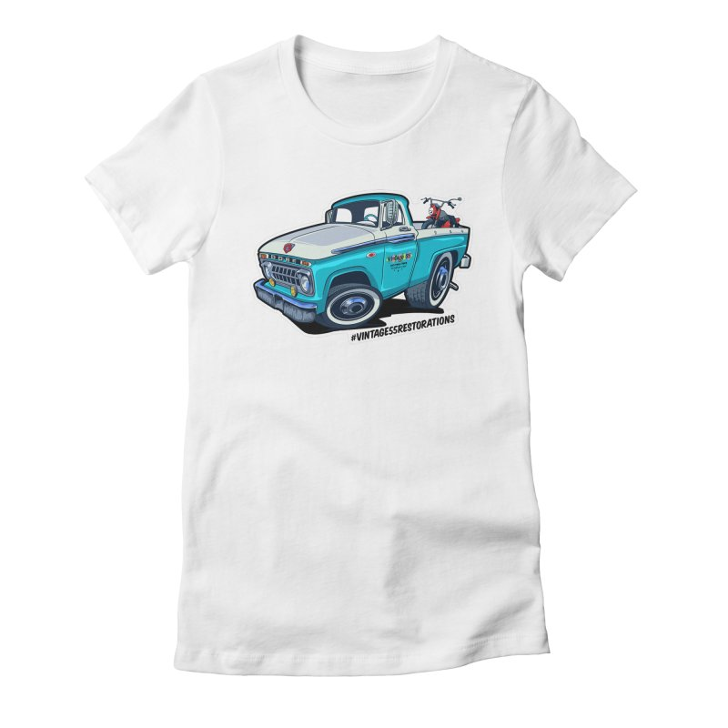 V55R Shop Truck Women's Fitted T-Shirt by Vintage 55 Restorations