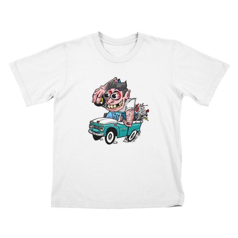 Truck Weirdo Kids T-Shirt by Vintage 55 Restorations