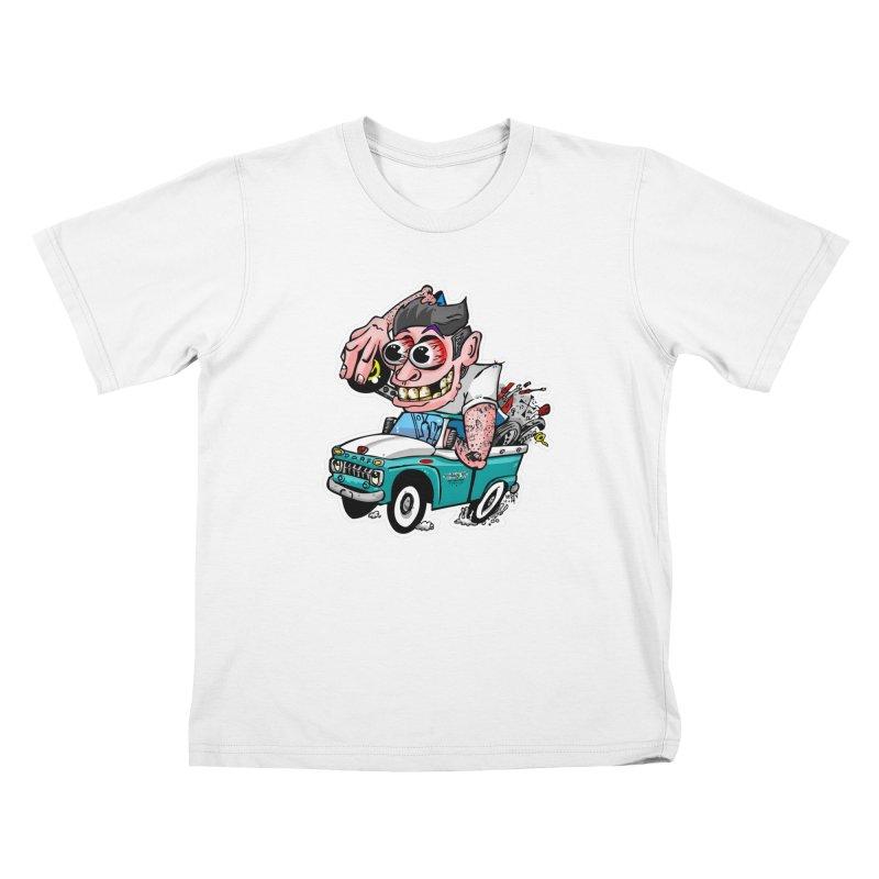 Truck Weirdo Kids T-Shirt by Vintage 55 Restorations