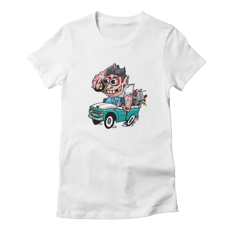 Truck Weirdo Women's Fitted T-Shirt by Vintage 55 Restorations