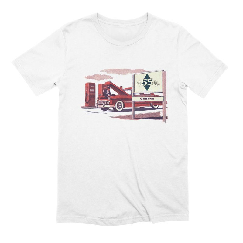 Vintage 55 Garage service Men's T-Shirt by Vintage 55 Restorations