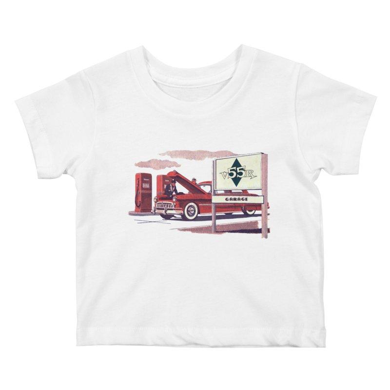 Vintage 55 Garage service Kids Baby T-Shirt by Vintage 55 Restorations