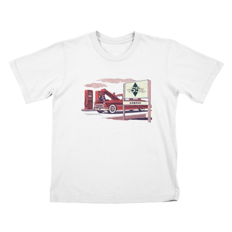 Vintage 55 Garage service Kids T-Shirt by Vintage 55 Restorations