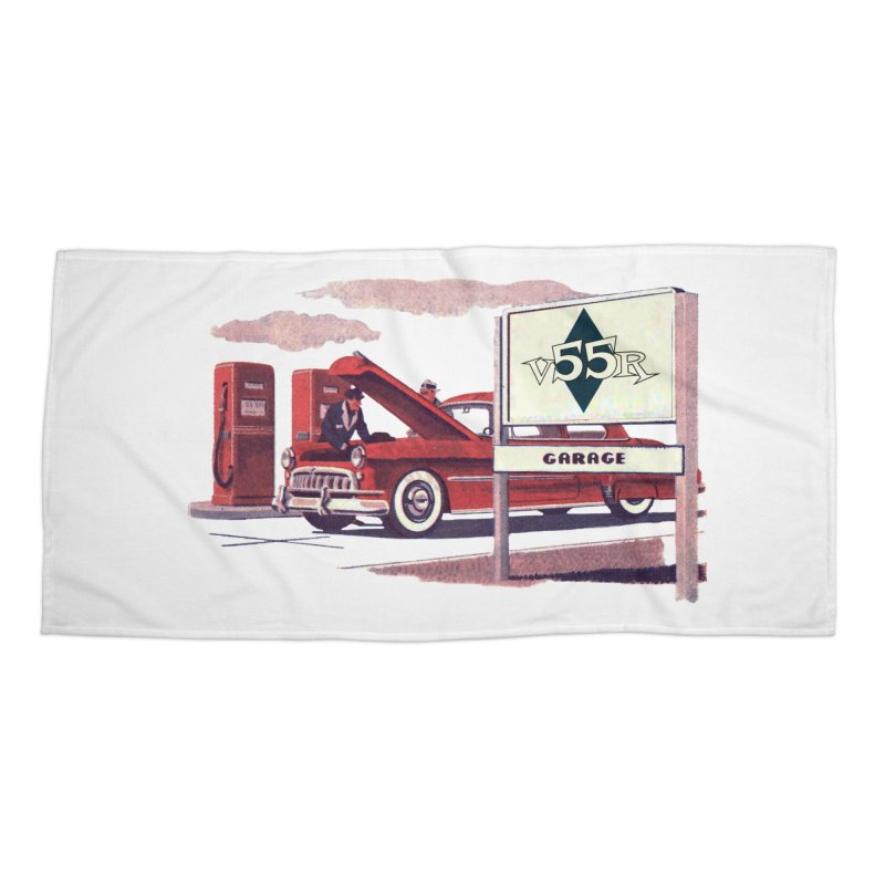 Vintage 55 Garage service Accessories Beach Towel by Vintage 55 Restorations