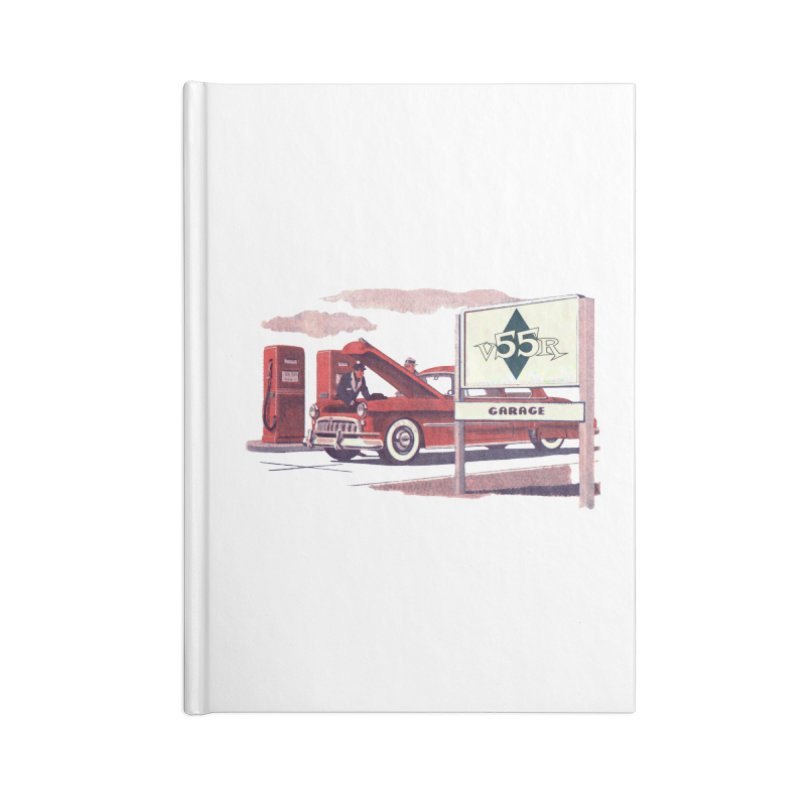 Vintage 55 Garage service Accessories Notebook by Vintage 55 Restorations