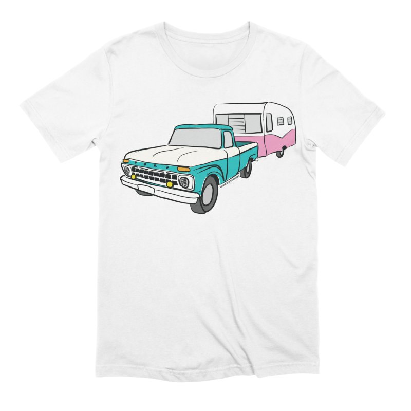 Travel trailer Men's T-Shirt by Vintage 55 Restorations