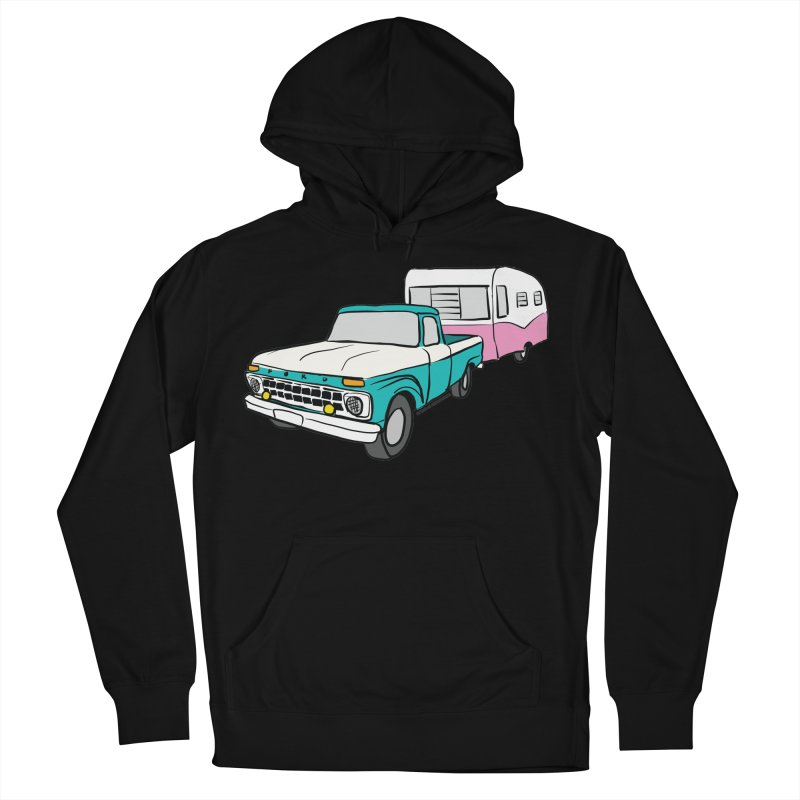 Travel trailer Women's French Terry Pullover Hoody by Vintage 55 Restorations
