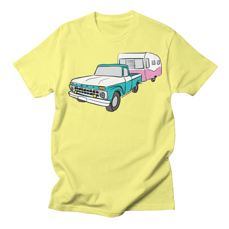Travel trailer Women's T-Shirt by Vintage 55 Restorations